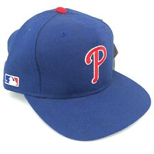 Vintage Philadelphia Phillies Sports Specialties Fitted Blue Hat with Red P Logo