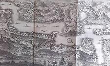 Plan du lac des IV CANTON ALTDORFF LUCERNE GRAVURE DELICE de la SUISSE XVIIIème