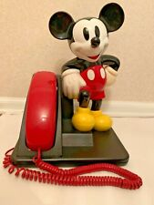 Vintage Disney Mickey Mouse At&T Touch Tone Red Landline Phone 210 Push Button