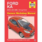 Ford KA 1.2 Petrol 2009 to 2014 Haynes Workshop Manual