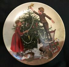 """Don Spaulding """"Christmas"""" Tree Decorating Plate Knowles - 16743 A"""