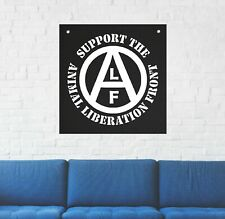 Animal Liberation Front Wall Tapestry - Rights Vegan Vegetarian flag earth human