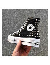CONVERSE All Star Platform Nera Spike Borchie Personalizzata