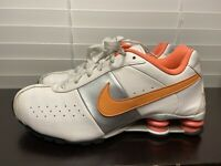 NIKE SHOX 2011 Leather White Pink Silver Sneakers Running Shoes Womens Size 10