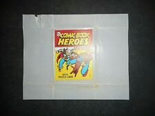 """1974 MARVEL COMIC BOOK HEROES STICKERS """"TEST"""" WRAPPER TOPPS (SUPER RARE)"""
