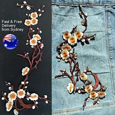 Big cream flower patch iron on - Sakura white cherry blossom iron-on patches