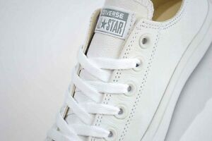Men's Converse Chuck Taylor All Star Mono Trainers Leather White 136823C. Size 9