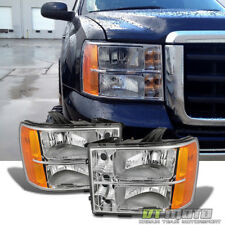 2007-2014 Gmc Sierra 1500 2500 3500 Headlights Lamps Left+Right Pair Replacement (Fits: Gmc)