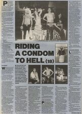 16/9/89Pgn22 Article & Picture 'riding A Condom To Hell' Metal Sensation Wolfsba