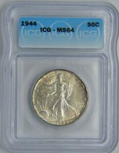 1944 Walking Liberty Half Dollar 50C | ICG MS64  ☆Brilliant☆