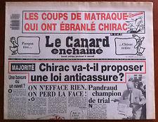 Le Canard Enchaîné 10/12/1986; Les coups de matraque qui ont ébranlé Chirac