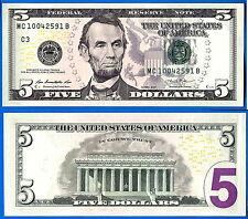 USA 5 Dollars 2013 UNC Mint Philadelphia C3 Suffix B US United States Dollar