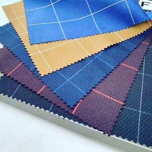 Window Pane Check Viscose Blend Fashion Suit Dress Garment Fabric. By the Metre