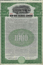 NEW YORK 1912 New York Railways Company Bond Stock Certificate ABN