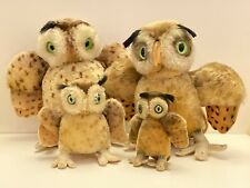 Steiff Wittie Owl Family of 4 - only one with button