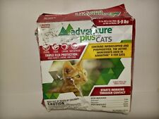 New Adventure Plus for Cats (4 Month Supply) for Cats 5-9 Lbs New/Sealed