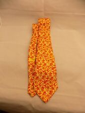 Georges Duboeuf Andre Claude Canova Neck Tie Red Yellow FRANCE 100% Silk