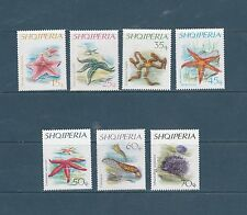 Albanie   faune  étoile de mer  1966  num: 880/86  **