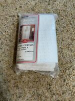 """NOS Vtg Sears CURTAIN Panel Lace Misty Mates Open Weave Winter White 40""""x84"""""""