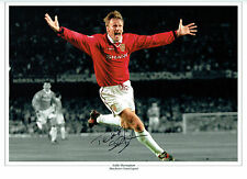 Teddy SHERINGHAM Signed Autograph Champions League Winner 16x12 Photo AFTAL COA