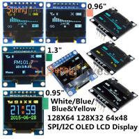 0.66 0.91 0.95 0.96 1.3 inch 4/7Pin I2C SPI OLED LCD LED RGB Blue Yellow/White