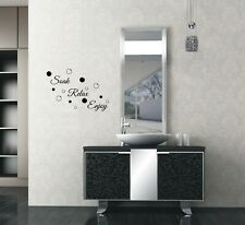 Bathroom Soak Relax Enjoy Wall Quotes Wall Stickers Wall Art UK 32a