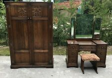 Gothic Style Wardrobe & Dressing Table, Vintage Cottage Style Wardrobe & Drawers