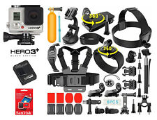 GoPro HERO3 + Plus Black Edition Camcorder CHDHX-302 + Huge Lot of New Extras