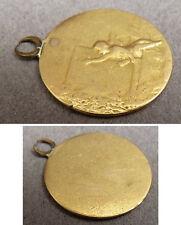 Médaille petit pendentif en OR massif 19e siècle gold medal ange angelot angel