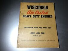 Wisconsin Air Cooled ABM & AKM Instruction Repair Parts Book Inboard Boat Motor