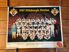 1987 PITTSBURGH PIRATES TEAM PICTURE POSTER FUJI FILM 19 X 25 INCHES QTY