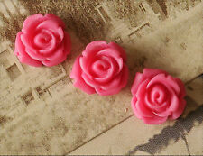 10x Resin Cabochons Blumen zum Kleben 10mm Rosé tm240
