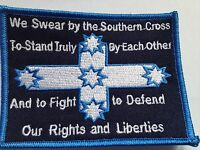 We swear by the Southern Cross Eureka Flag - embroidered cloth patch.  D010901