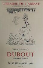 """""""DUBOUT / EXPO-VENTE DESSINS ORIGINAUX 1986"""" Affiche originale entoilée 43x55cm"""