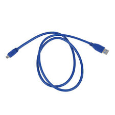 Blue Superspeed USB 3.0 Type A Male to Mini B 10 Pin Male Adapter Cable Cord N3