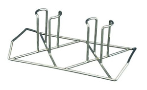 The Twiins Beer Can Chicken Holder Grill Racks Grilling Cookware Plated Steel