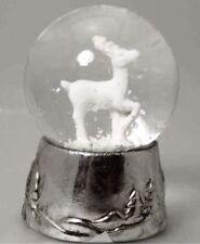 Silver Reindeer Snow Globe Snowdome by Gisela Graham - Standing Reindeer