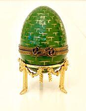 Faberge Ei mit Uhr Grün Gold 924