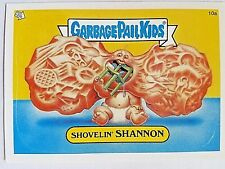 GARBAGE PAIL KIDS SHOVELIN' SHANNON STICKER CARD WITH PUZZLE PIECE & Case GPK-42