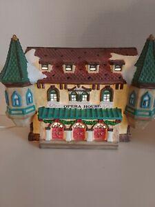 Vintage Village  Lighted Opera House Christmas