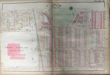 ORIGINAL 1923 G.W. BROMLEY, OLNEY PHILADELPHIA PA, FISHER PARK, ATLAS PLAT MAP
