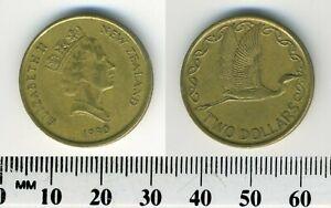 New Zealand 1990 - 2 Dollars Aluminum-Bronze Coin - Elizabeth II - Kotuku - #2