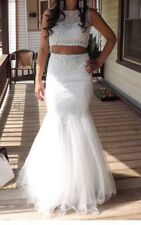 White two piece prom dress from Blush