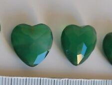 cuore in agata verde12mm x 12mm spessore 3 mm  per pendenti orecchini gia forati