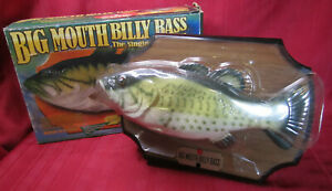 1999 Gemmy Big Mouth Billy Bass Singing Animated Fish Motion Activated w/Box