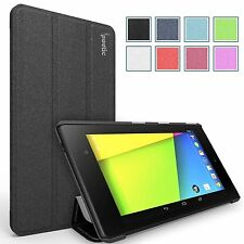 Slimline Leather Slim-Fit Trifold Cover Stand Folio Case for Google Nexus 7 FHD