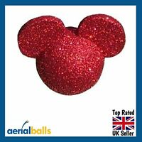 Red Glitter Disney Mickey Mouse Minnie Mouse Car Aerial Ball Antenna Topper