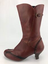 Pikolinos Boots BuckleSide Zip Brown Round Toe Mid Calf Boots Womens 39 US 8.5,9