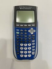 Texas Instruments Ti-84 Plus Silver Edition Graphing Calculator Blue Tested