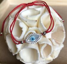Evil Eye Red Bracelet with Cz stones /Pulcera Para El Mal De ojo y malas Vibras
